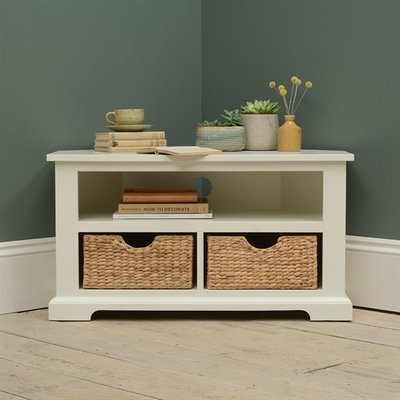 Farmhouse Painted Corner TV Unit up to 40
