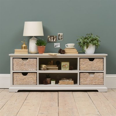 Tetbury Grey Widescreen TV unit up to 62