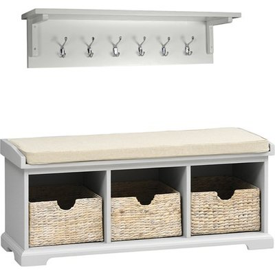 Tetbury Grey Bench and Hook Set