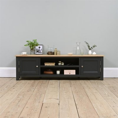 Ellwood Charcoal Extra Large TV Stand - Up to 80