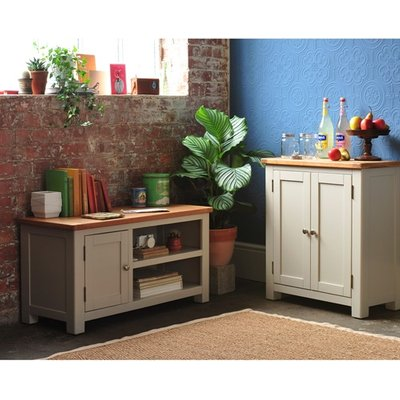 Lundy Stone Small TV Unit - Up to 42