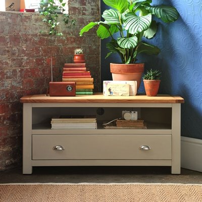 Lundy Stone Corner TV Unit - Up to 44