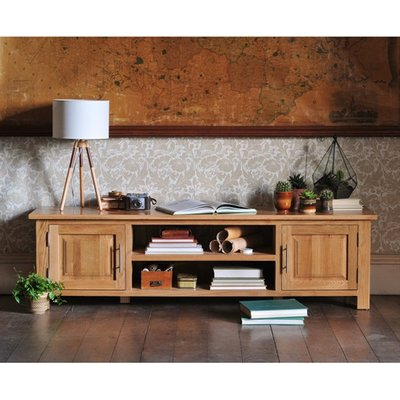Newark Oak Low Wide TV Unit Up to 70