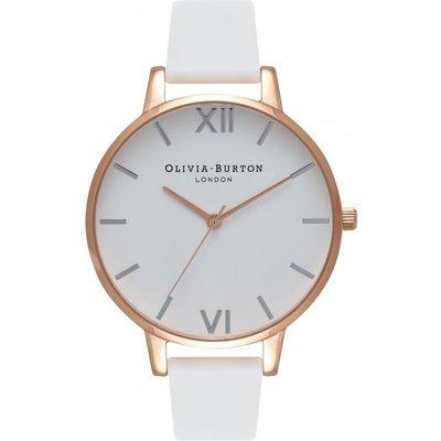 Olivia Burton White Dial Big Dial White Dial Big Dial Rose Gold & White Damenuhr in Weiß OB16BDW11 | OLIVIA BURTON SALE