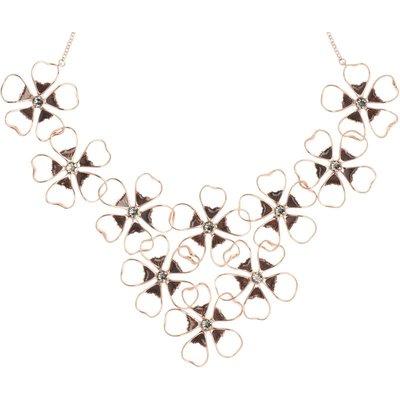 Ted Baker Linndy Enamel Flower Cluster Halskette vergoldet TBJ1239-24-23 | TED BAKER SALE