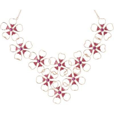 Ted Baker Linndy Enamel Flower Cluster Halskette rosévergoldet TBJ1239-24-73 | TED BAKER SALE