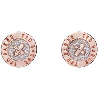 Ted Baker Eisley Enamel Mini Button Ohrring rosévergoldet TBJ1266-24-138