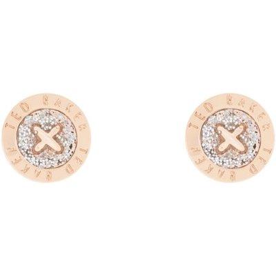 TED BAKER Damen Ted Baker Eisley Enamel Mini Button Ohrring rosévergoldet TBJ1266-24-138