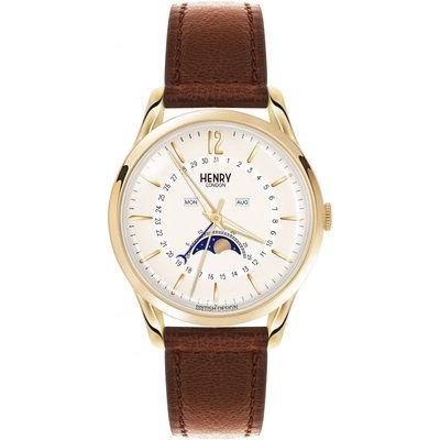 Henry London Heritage Westminster Herrenuhr in Braun HL39-LS-0148