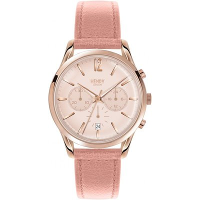 Henry London Heritage Shoreditch Damenchronograph in Pink HL39-CS-0158