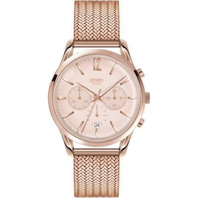 Henry London Heritage Shoreditch Herrenchronograph in Rosa HL39-CM-0168