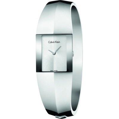 Calvin Klein Shape Small Bangle Damenuhr in Silber K7C2S116