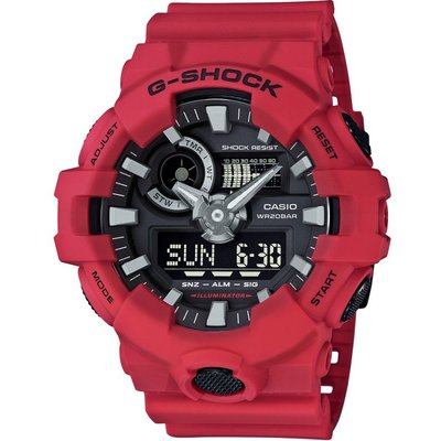 CASIO Casio G-Shock Herrenchronograph in Rot GA-700-4AER