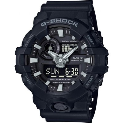 Casio G-Shock Herrenchronograph in Schwarz GA-700-1BER
