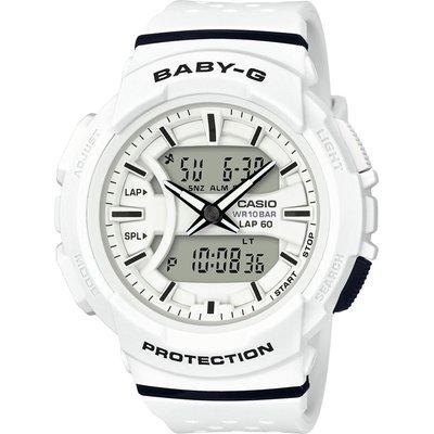 CASIO Casio Baby-G 60 Lap Damenchronograph in Weiß BGA-240-7AER