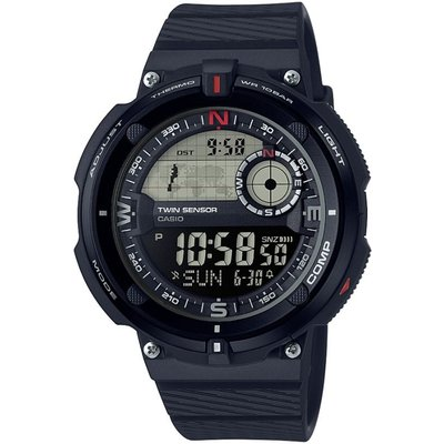 CASIO Casio Classic Travel World Time Compass Thermometer Herrenchronograph in Blau SGW-600H-1BER
