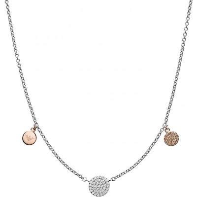 Emporio Armani Pave Disc Halskette Sterling-Silber EG3332040