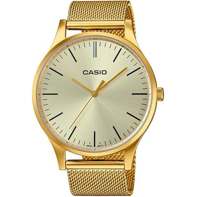 Casio Classic Collection Vintage Unisexuhr in Gold LTP-E140G-9AEF
