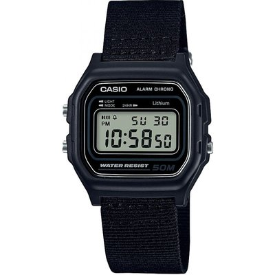 Casio Classic Collection Cloth Unisexchronograph in Schwarz W-59B-1AVEF