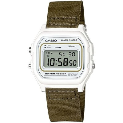 Casio Classic Collection Cloth Unisexchronograph in Khakifarben W-59B-3AVEF