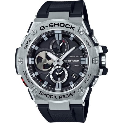 Casio G-Steel Bluetooth Triple Connect Herrenchronograph in Schwarz GST-B100-1AER
