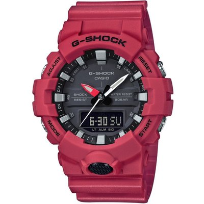 Casio G-Shock Herrenchronograph in Rot GA-800-4AER