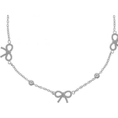 Olivia Burton keine Vintage Bow & Ball Halskette versilbert OBJ16VBN20 | OLIVIA BURTON SALE