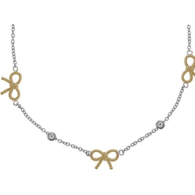 Olivia Burton keine Vintage Bow & Ball Halskette zweifarbige Beschichtung aus Stahl und Gold OBJ16VBN22 | OLIVIA BURTON SALE