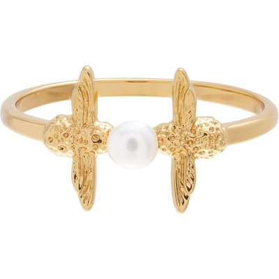 Olivia Burton Pearl Bee Pearl Bee Ring vergoldet OBJ16AMR11S | OLIVIA BURTON SALE