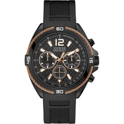 Guess Mens Sport Surge Herrenchronograph in Schwarz W1168G3