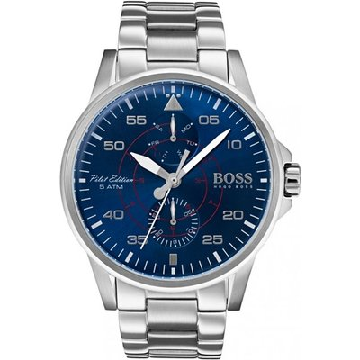 Hugo Boss Aviator Herrenuhr in Silber 1513519
