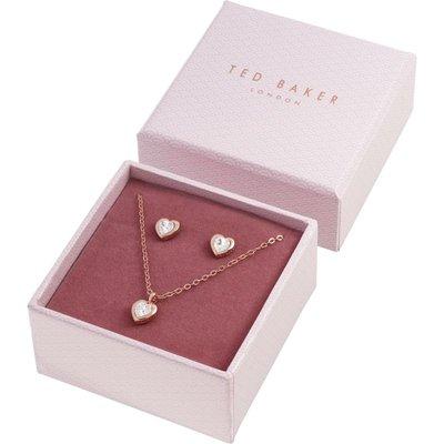 TED BAKER Damen Ted Baker Crystal Heart Set Swarovski-Kristall Hadeya Crystal Heart Gift Set Basismetall TBJ1943-24-02