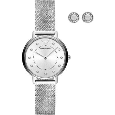 Emporio Armani Dress Kappa Damenuhr in Silber AR80029