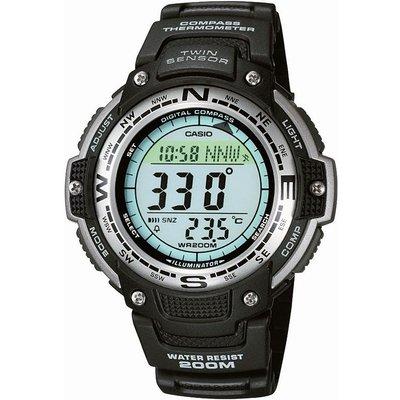 CASIO Casio Pro Trek Herrenchronograph in Schwarz SGW-100-1VEF