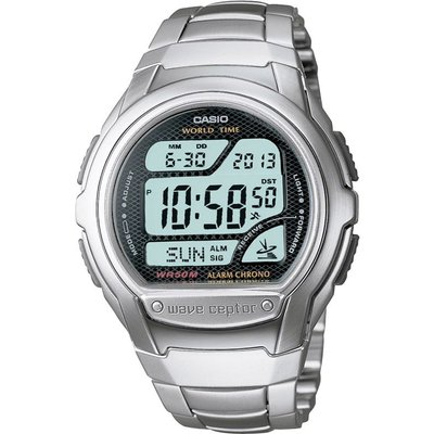 CASIO Casio Wave Ceptor Herrenchronograph in Silber WV-58DU-1AVES