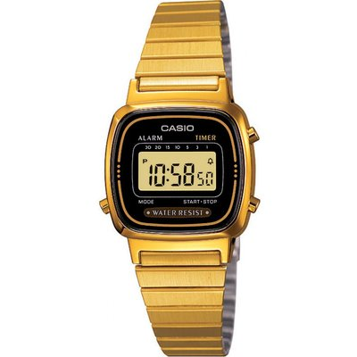 CASIO Casio Classic Collection Damenchronograph in Gold LA670WEGA-1EF