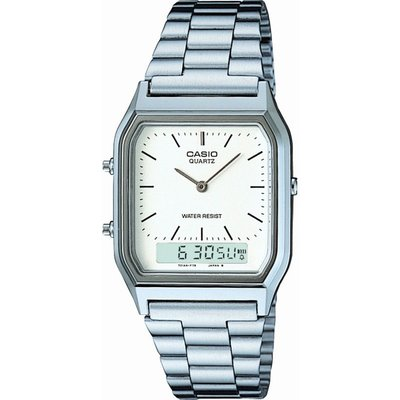 Casio Classic Herrenchronograph in Silber AQ-230A-7DMQYES