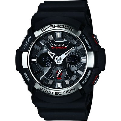 Casio G-Shock Herrenchronograph in Schwarz GA-200-1AER
