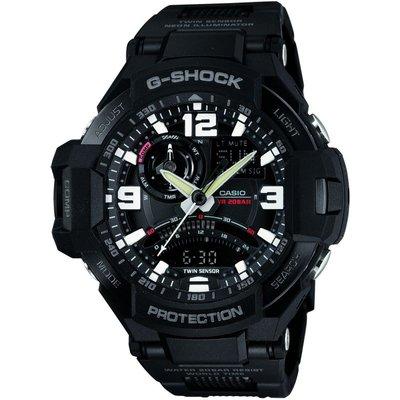 CASIO Casio G-Shock Premium Sky Cockpit Herrenchronograph in Schwarz GA-1000FC-1AER