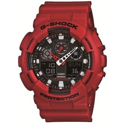 CASIO Casio G-Shock Herrenchronograph in Rot GA-100B-4AER