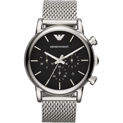Emporio Armani Herrenchronograph in Silber AR1811