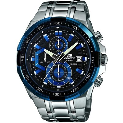 Casio Edifice Herrenchronograph in Silber EFR-539D-1A2VUEF