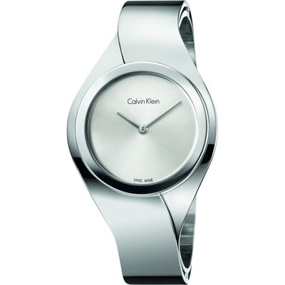 CALVIN KLEIN Calvin Klein Senses Medium Bangle Damenuhr in Silber K5N2M126