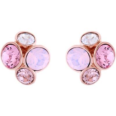 Ted Baker Kristall Lynda Jewel Cluster Stud Ohrring PVD rosévergoldet TBJ496-24-16 | TED BAKER SALE