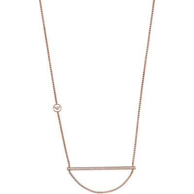 Emporio Armani Kristall Halskette Sterling-Silber EG3213221