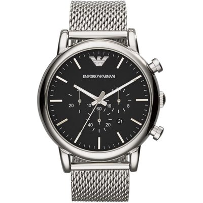 Emporio Armani Herrenchronograph in Silber AR1808