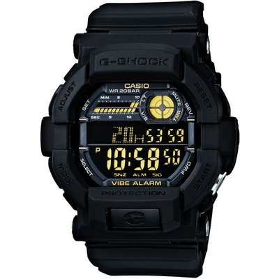 Casio G-Shock Vibrating Timer Herrenchronograph in Schwarz GD-350-1BER