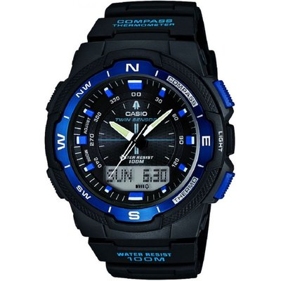 Casio Sports Gear Compass Thermometer Herrenchronograph in Schwarz SGW-500H-2BVER