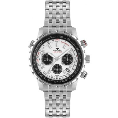 Rotary Exclusive Herrenchronograph in Silber GB00185/01