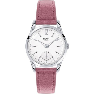 Henry London Heritage Hammersmith Damenuhr in Pink HL30-US-0059